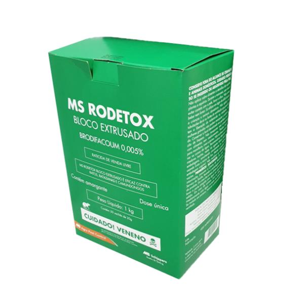 MS Rodetox - Bloco Extrusado 1 Kg