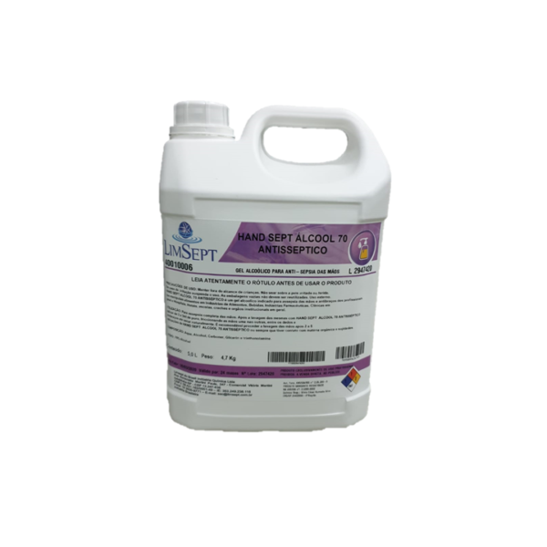 Hand álcool Gel 70% Limsept - 5L